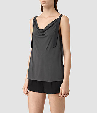 Womens Carli Top (Washed Black) - product_image_alt_text_3