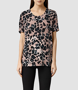 Womens Aroma Leo Top (Pink)