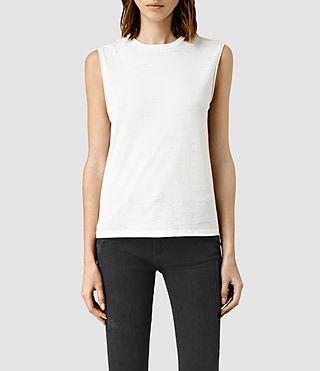 Mujer Camiseta Elm Devo (SMOG WHITE)