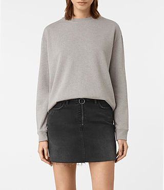Womens Seaside Marl Sweatshirt (Grey Marl) - product_image_alt_text_1