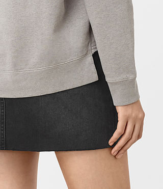 Womens Seaside Marl Sweatshirt (Grey Marl) - product_image_alt_text_2
