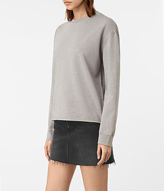 Womens Seaside Marl Sweatshirt (Grey Marl) - product_image_alt_text_3