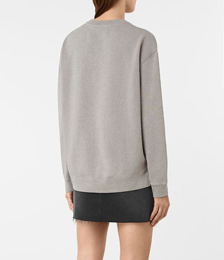 Womens Seaside Marl Sweatshirt (Grey Marl) - product_image_alt_text_4