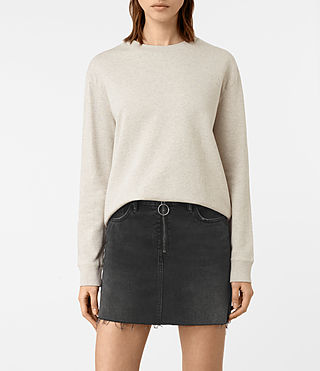 Womens Seaside Marl Sweatshirt (Light Grey Marl)