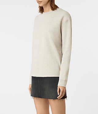 Femmes Seaside Marl Sweat (Light Grey Marl) - product_image_alt_text_3