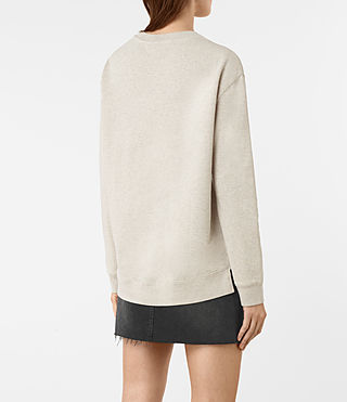 Femmes Seaside Marl Sweat (Light Grey Marl) - product_image_alt_text_4