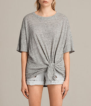 Women's Meli Tee (Grey Marl) -