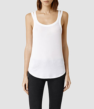 Womens Colette Strap Tank (White) - product_image_alt_text_1