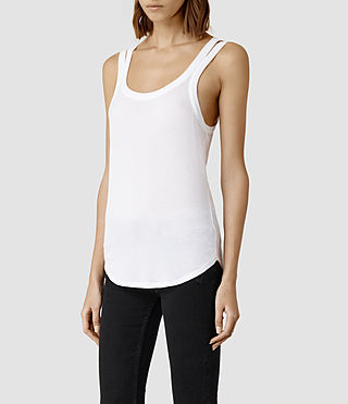 Womens Colette Strap Tank (White) - product_image_alt_text_2