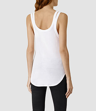 Womens Colette Strap Tank (White) - product_image_alt_text_3