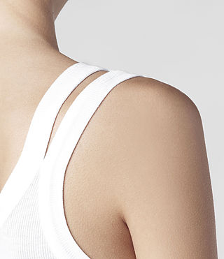 Womens Colette Strap Tank (White) - product_image_alt_text_4