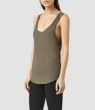 Mujer Colette Strap Tank (Khaki Green) - product_image_alt_text_2