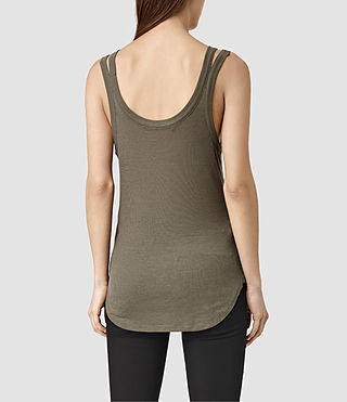 Mujer Colette Strap Tank (Khaki Green) - product_image_alt_text_3