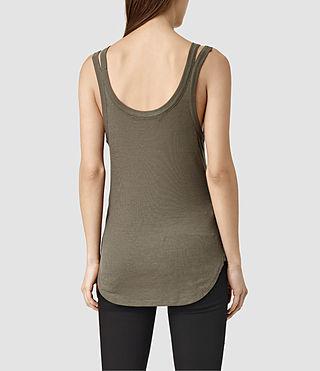 Womens Colette Strap Tank (Khaki Green) - product_image_alt_text_3