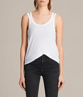 Womens Colette Strap Tank (Optic White)