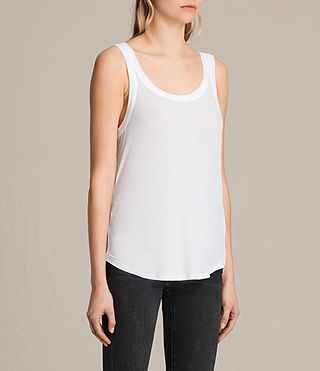 Womens Colette Strap Tank (Optic White) - product_image_alt_text_2