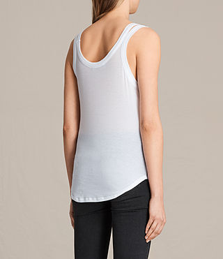 Womens Colette Strap Tank (Optic White) - product_image_alt_text_3