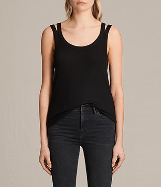 Damen Colette Strap Vest (Black)