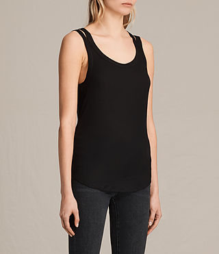 Mujer Colette Strap Tank (Black) - product_image_alt_text_2