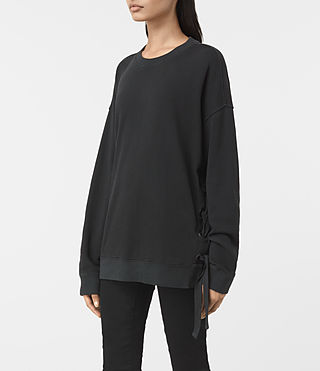 Donne Leti Sweatshirt (Jet Black) - product_image_alt_text_2