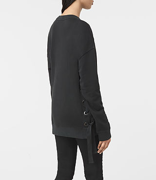 Donne Leti Sweatshirt (Jet Black) - product_image_alt_text_3