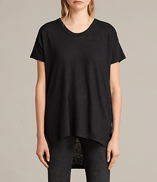 Damen Gina Tee (Black) -