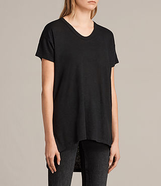 Women's Gina Tee (Black) - product_image_alt_text_2