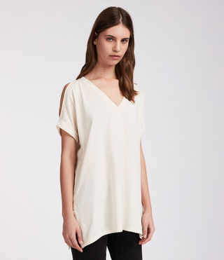 Women's Cora V Tee (Vintage White) - product_image_alt_text_2