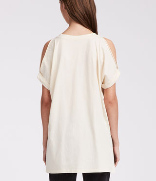 Women's Cora V Tee (Vintage White) - product_image_alt_text_4
