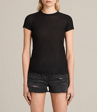 Damen Bea Tee (Black) -