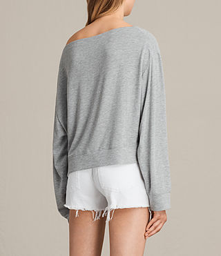 Womens Sammy Long Sleeve Crew Sweater (Grey Marl) - product_image_alt_text_3