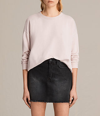 Womens Coni Loop Sweatshirt (LIGHT CAMI PINK) - product_image_alt_text_1