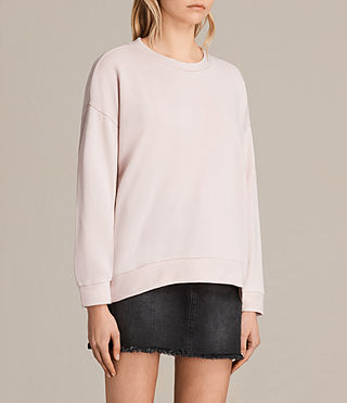 Womens Coni Loop Sweatshirt (LIGHT CAMI PINK) - product_image_alt_text_2