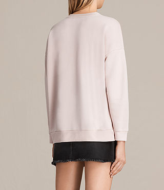 Womens Coni Loop Sweatshirt (LIGHT CAMI PINK) - product_image_alt_text_3