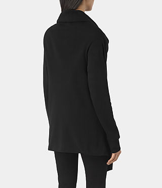 Damen Drape Sweatshirt (Jet Black) - product_image_alt_text_3