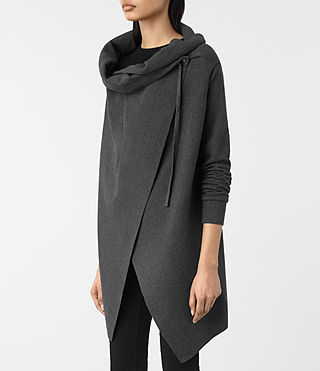 Donne Drape Sweatshirt (MID CHARCOAL GREY) - product_image_alt_text_2