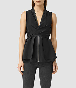 Women's Jayda Silk Top (Black)