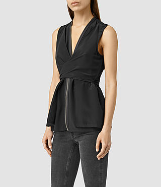 Mujer Jayda Top (Black) - product_image_alt_text_2