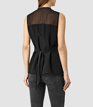 Mujer Jayda Top (Black) - product_image_alt_text_3