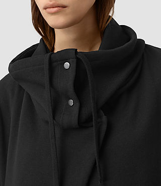 Women's Brooke Sweatshirt (Black) - product_image_alt_text_4