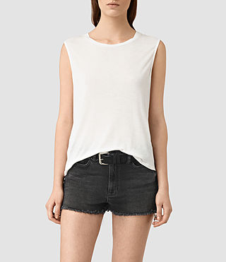 Womens Louis Jay Top (Chalk White)