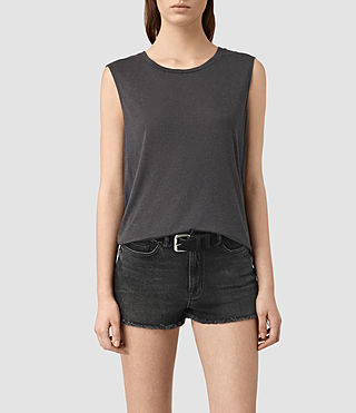 Damen Louis Jay Top (Jet Black) -