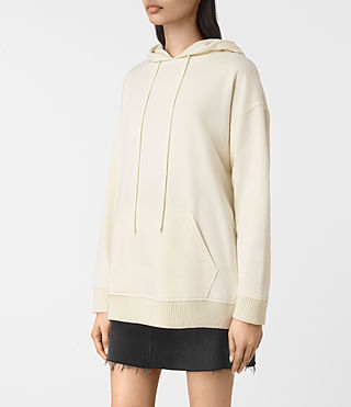Women's Nia Knit Hoody (NATURAL WHITE) - product_image_alt_text_3