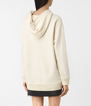 Women's Nia Knit Hoody (NATURAL WHITE) - product_image_alt_text_4