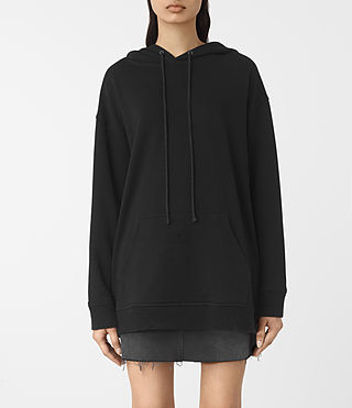 Damen Nia Knit Hoody (Black)