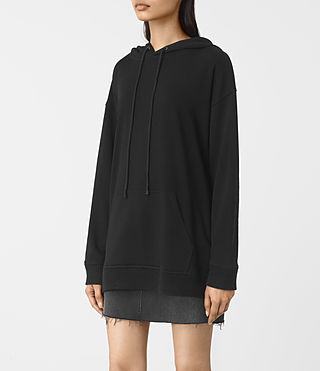 Donne Nia Knit Hoody (Black) - product_image_alt_text_3