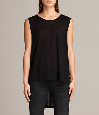 Mujer Zita Tank (Black) - product_image_alt_text_1