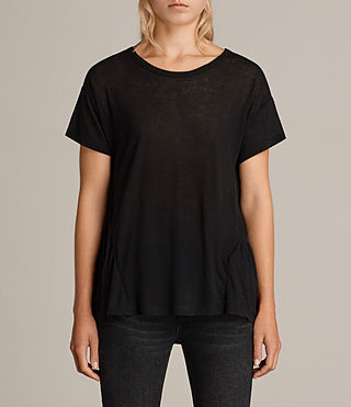 Damen Zita T-Shirt (Black) - Image 1