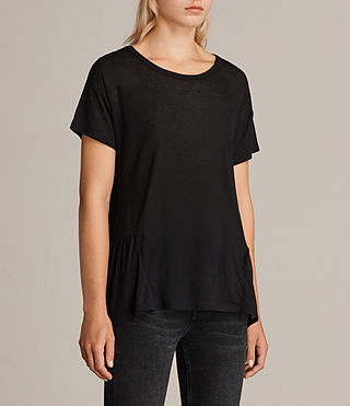 Damen Zita T-Shirt (Black) - Image 2
