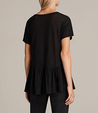 Damen Zita T-Shirt (Black) - Image 3
